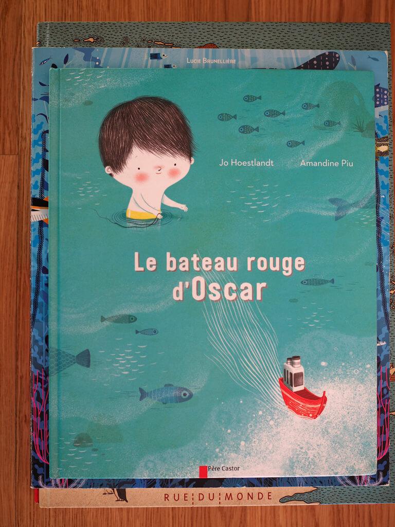 Le bateau rouge d'Oscar, en_balades